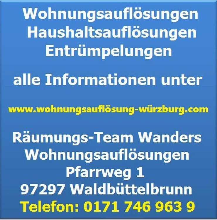 Bild 6: Wohnungsauflösung Haushaltsauflösung Entrümpelung Würzburg und Umgebung