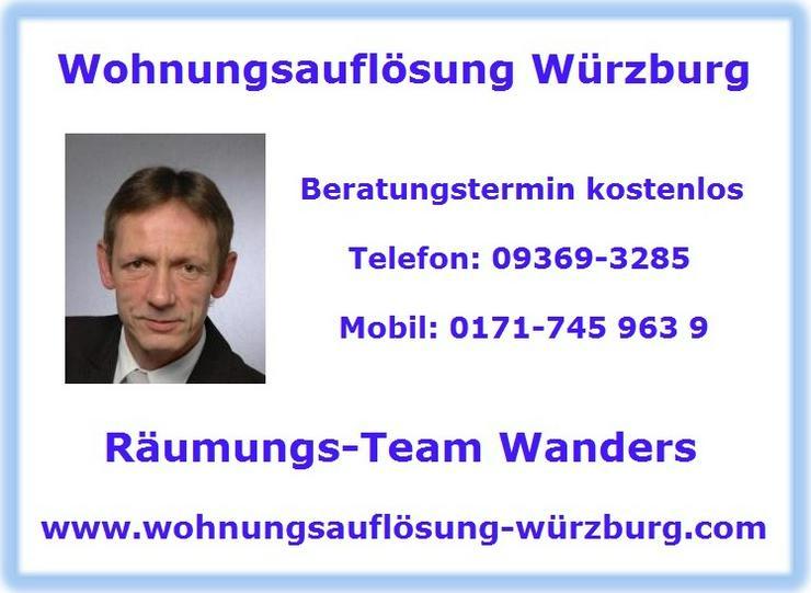 Wohnungsauflösung Haushaltsauflösung Entrümpelung Würzburg und Umgebung - Sonstige Dienstleistungen - Bild 1
