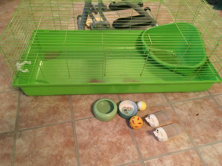Hasenstall Outdoor und Indoor + diverse Kleinteile