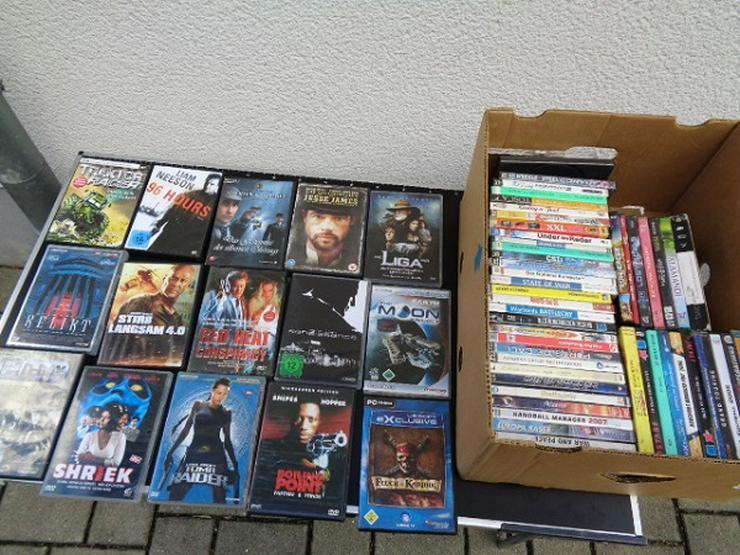 Aus einer Sammlung ca. 60 DVD Filme + PC-Spiele aus allen Bereichen gut erhalten
