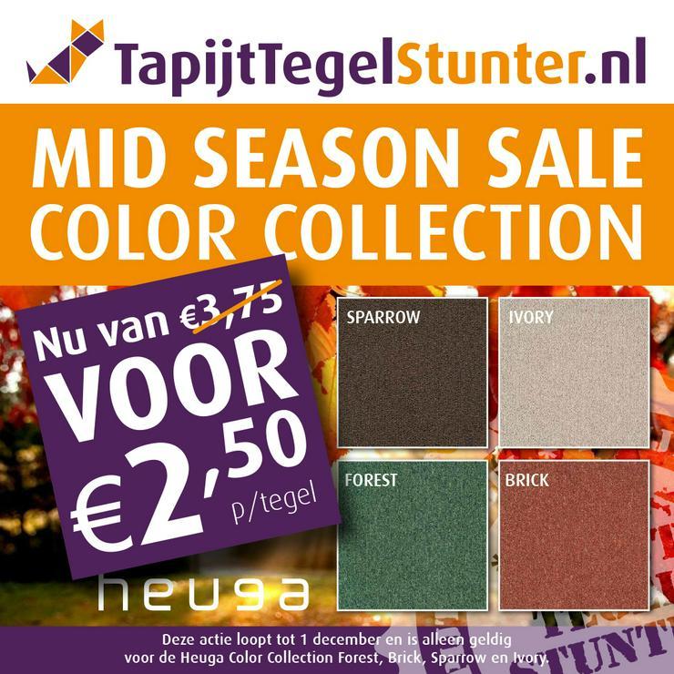Midseason Sale! Heuga Color Collection Teppichfliesen €2,50