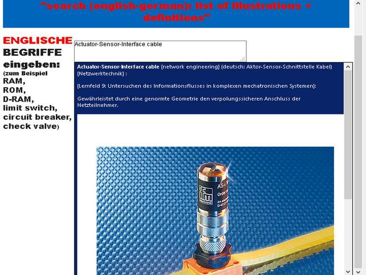 Bild 3: Werkzeugmaschinen-Vokabular/ Technisches Englisch-Deutsch