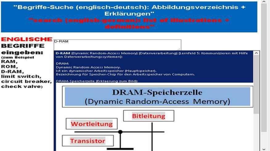 Bild 2: Werkzeugmaschinen-Vokabular/ Technisches Englisch-Deutsch