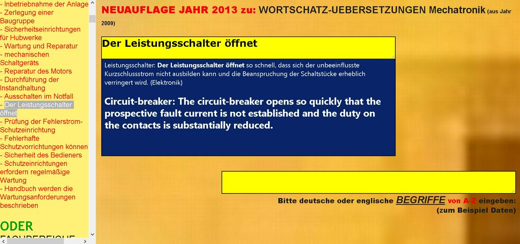 Bild 2: english-german text translation: maintenance, assembly instruction