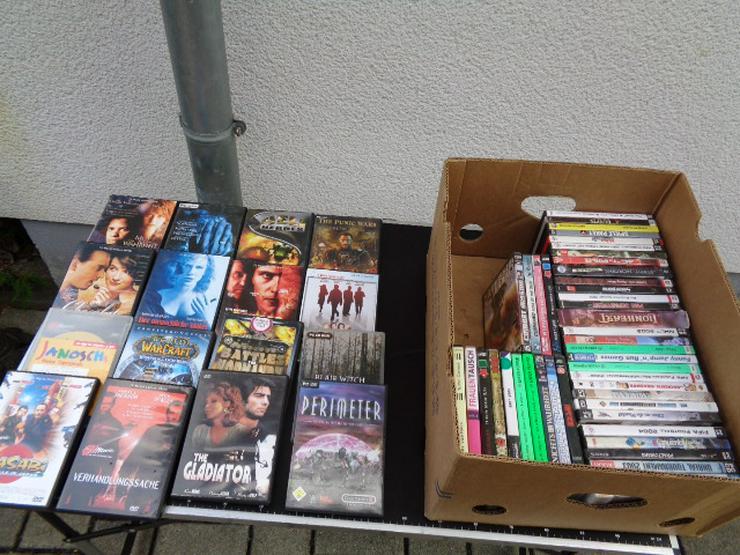 So an die 60 DVD Filme + PC-Spiele aus allen Bereichen gut erhalten
