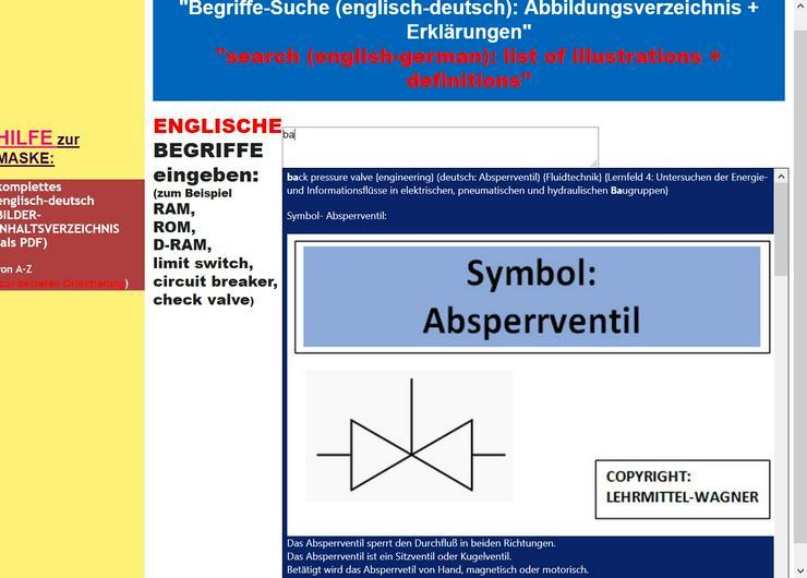 Woerterbuch-Uebersetzer: technisches Englisch (Metallurgie EDV Kfz)
