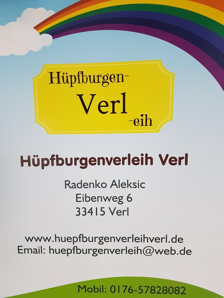 Bild 6: Hüpfburg Feuerwehr mit Rutsche mieten 99 €/ 1 Tag