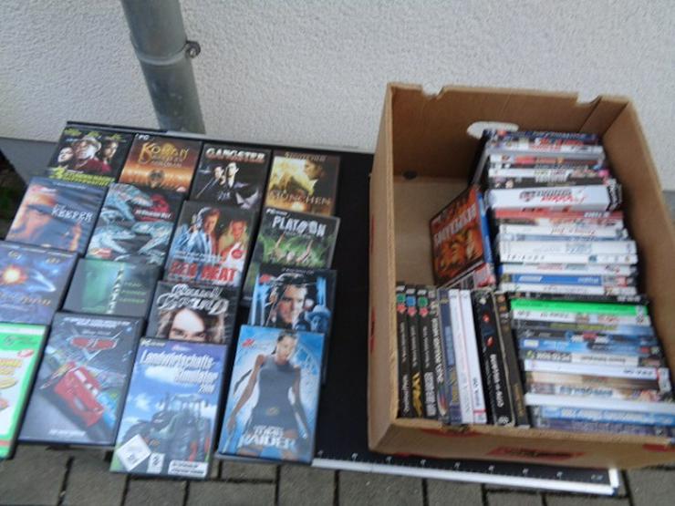 Gut erhalten DVD Filme + PC-Spiele ca. 60 Stk. aus allen Bereichen