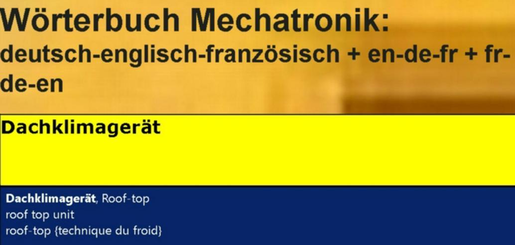 Bild 2: Kaelteanlagenbauer + Kaeltetechnik-Planer: Uebersetzer franzoesisch englisch