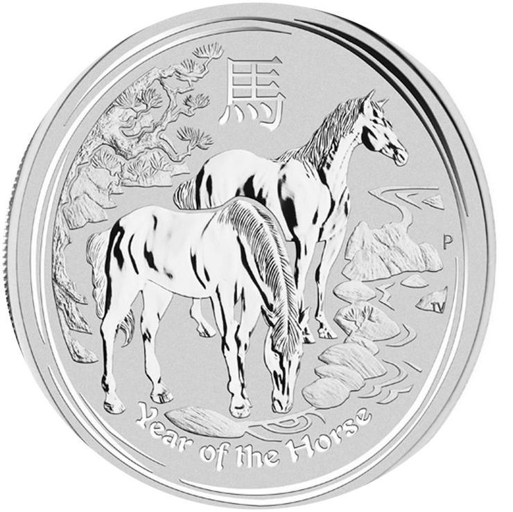 Bild 4: Australien 25 Cent bis 8 Dollar Lunar II .Silbermünzen
