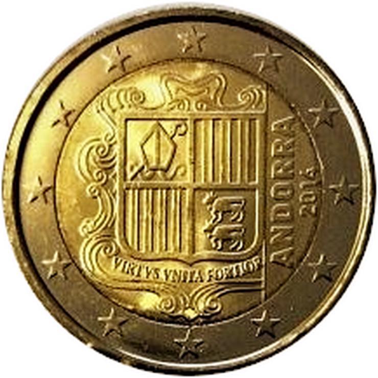 Bild 6: Euro Münzen 2 Euro bis 5 Euro aus Europa