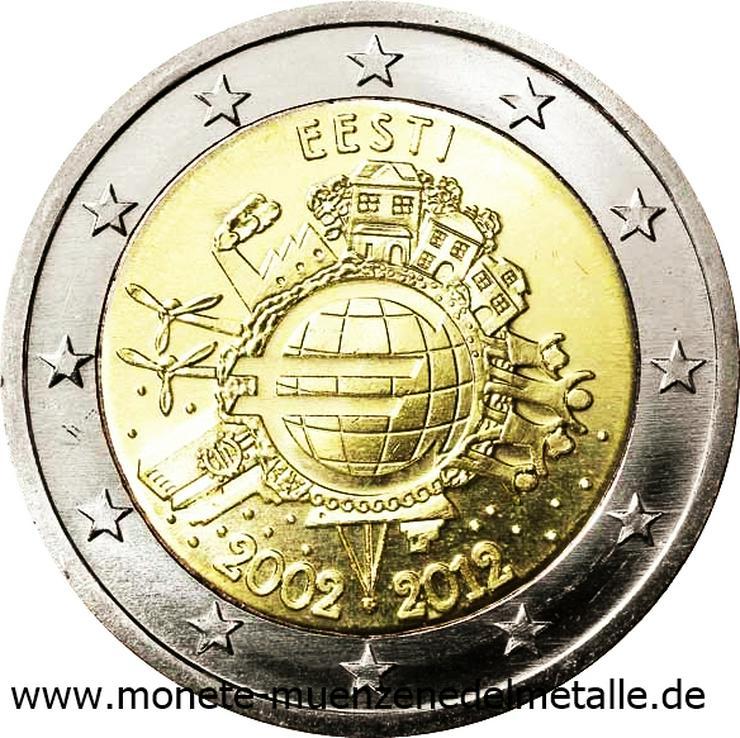 Bild 5: Euro Münzen 2 Euro bis 5 Euro aus Europa
