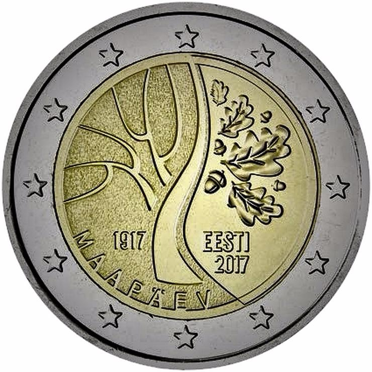 Bild 4: Euro Münzen 2 Euro bis 5 Euro aus Europa