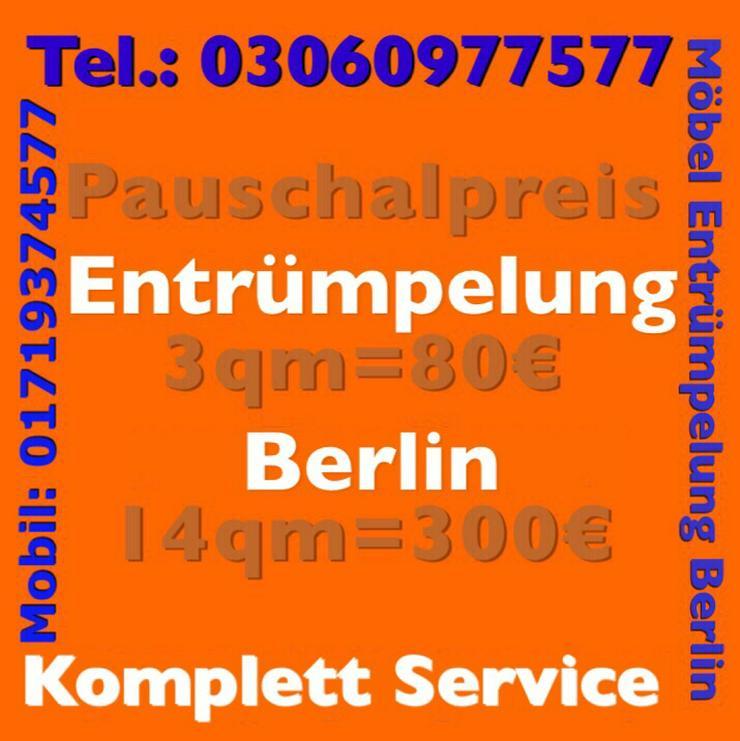 Möbel Entrümpelung pauschal 80 Euro Berlin