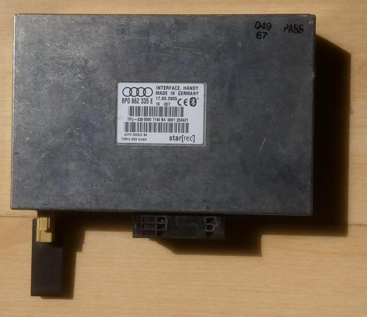 Freisprecheinrichtung Bluetooth - Original Audi 8P0 862 335 E - Freisprecheinrichtungen, Halterungen & Kabel - Bild 1