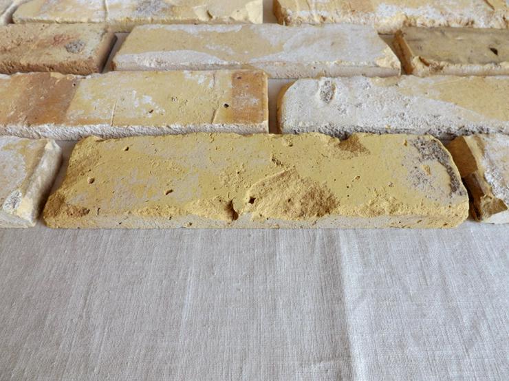 Bild 4: Antikriemchen Steinriemchen wiederverwendeter Mauerstein ökologische Ziegelriemchen Wandpanele Wandgestaltung Wandfliese