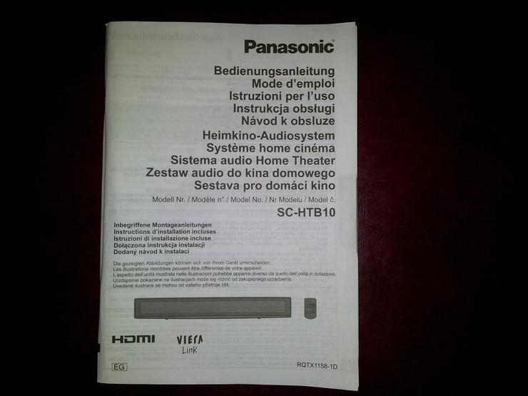 Bild 4: Soundanlage/Heimkino-Audiosystem Panasonic SC-HTB10