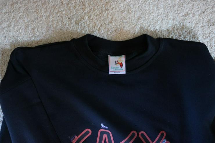 Bild 3: Sweatshirt/Print, schwarz,Neu, Gr. 164/170, Bienchen