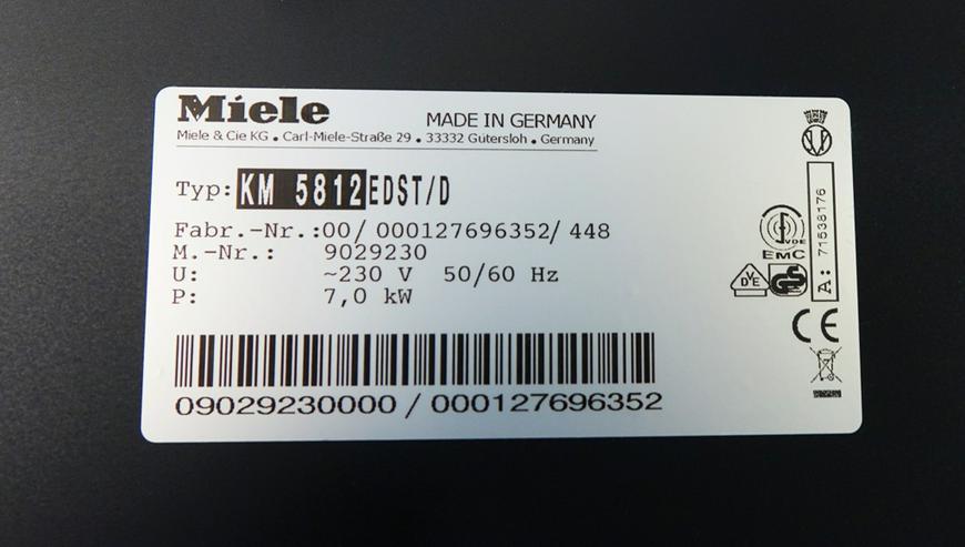 Bild 5: Glaskeramik Kochfeld Miele KM 5812 Autark- Edelstahlrahmen NEU!!!