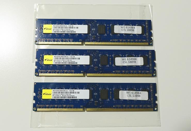 DDR3-Speicher von Elixir, Dual Channel fähig, fehlerfreier Zust. - Weitere - Bild 1