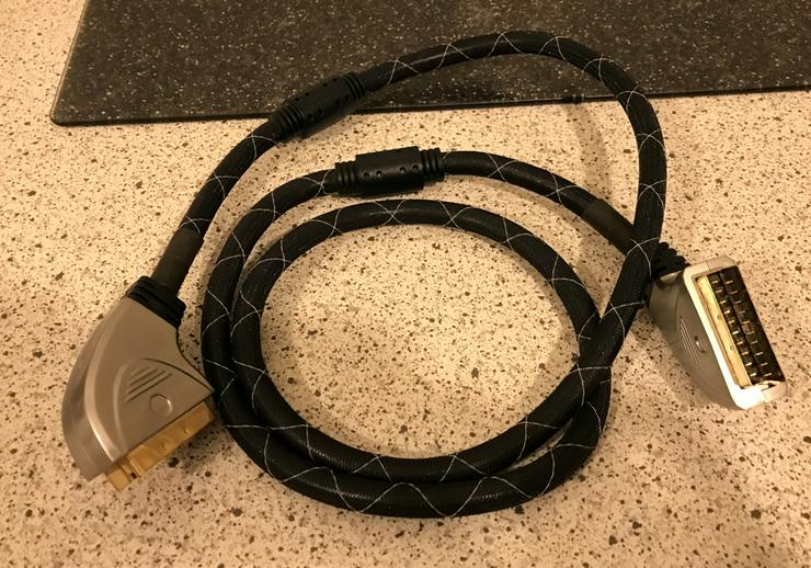 Bild 2: High End Scart Kabel 1,5 m Scart Stecker 21 polig 24 Karat vergol