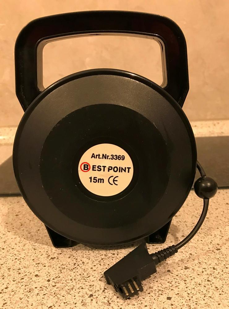 Telefonkabelrolle HAMA TAE-F-Stecker 15 m - Ladegeräte & Kabel - Bild 1