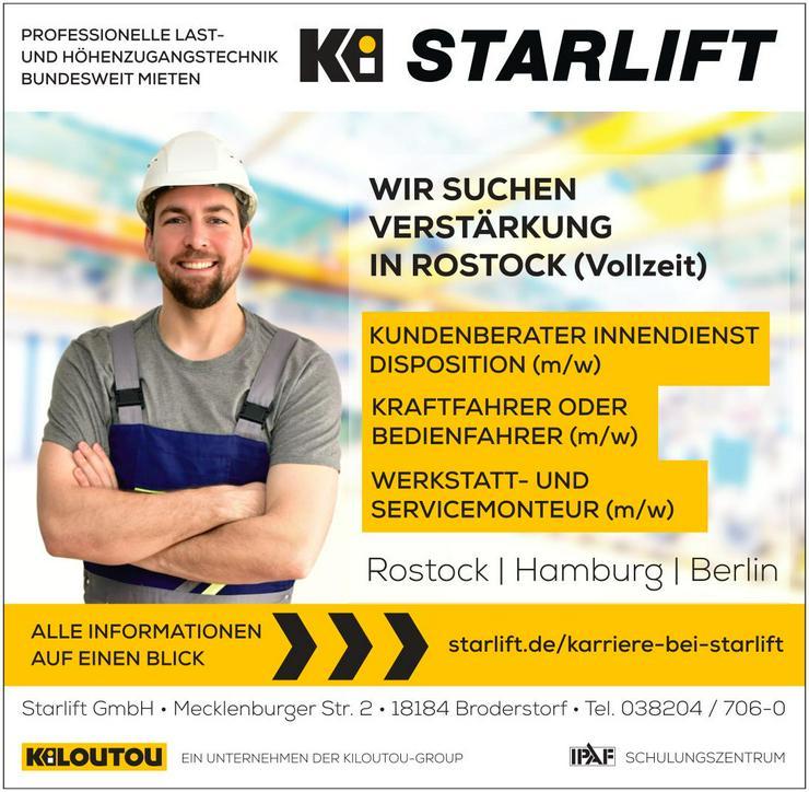 Werkstatt- und Servicemonteur/in in Rostock