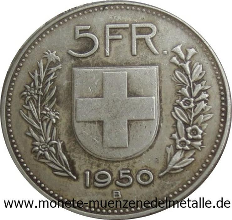 Bild 2: Schweiz 5 Franke Silber Münze