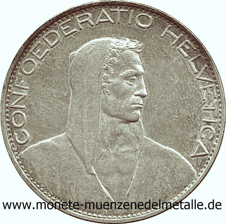 Schweiz 5 Franke Silber Münze - Münzen - Bild 1