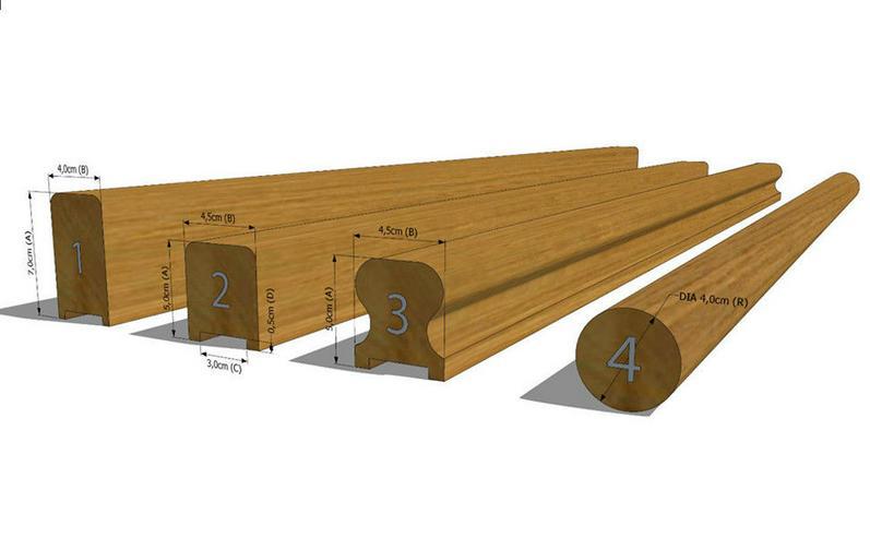 Bild 4: GELÄNDER TREPPENGELÄNDER TREPPENHANDLAUF HANDLÄUFE EICHENHOLZ MASSIVHOLZ 50cm
