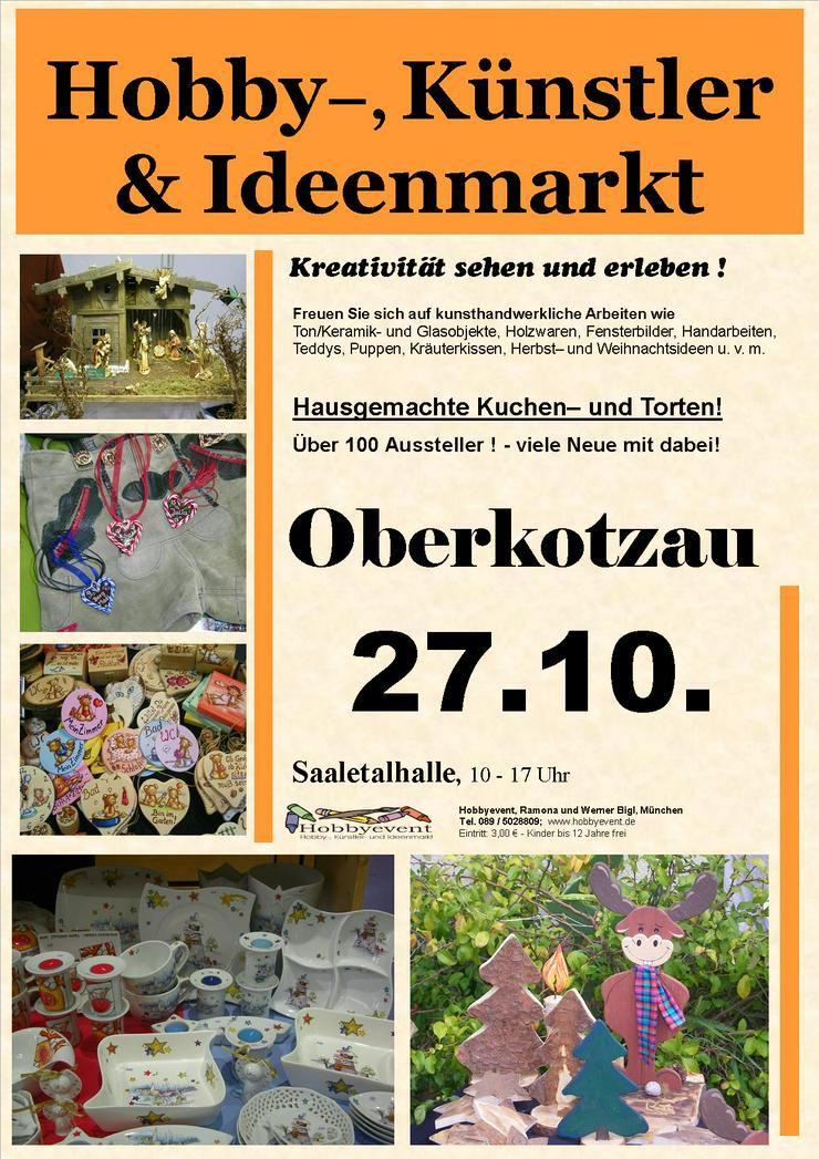 Oberkotzauer Hobby-, Künstler- und Ideenmarkt am 27.10.19 - Märkte & Messen - Bild 1