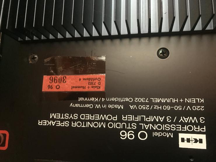 Klein & Hummel Studio Lautsprecher O96 teilw. defekt