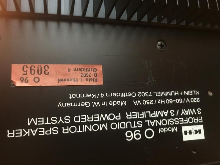 Bild 4: Klein & Hummel Studio Lautsprecher O96 teilw. defekt
