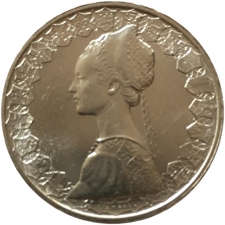 Bild 2: 500 Lire Karavellen  Italien Silber Münze