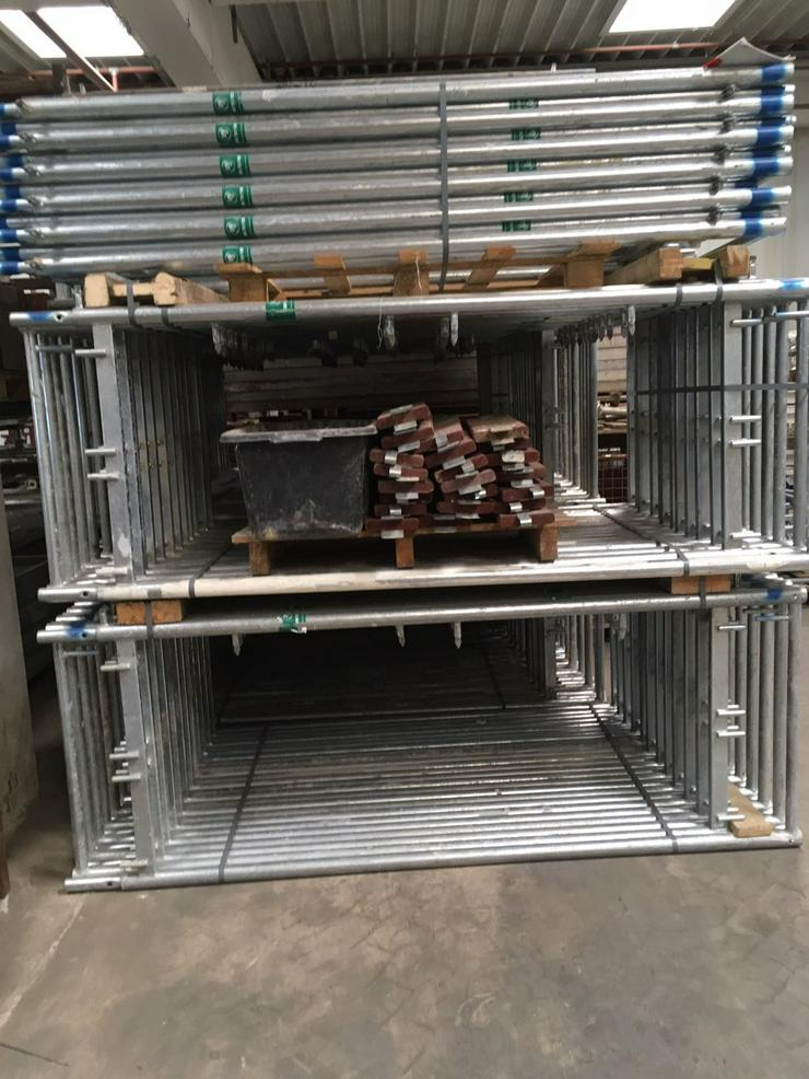 Bild 2: Große Menge MJ Gerüst Uni70 Baugerüst Fassadengerüst Wandgerüst Plettac Assco scaffolding