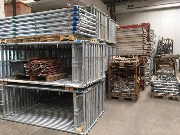 Große Menge MJ Gerüst Uni70 Baugerüst Fassadengerüst Wandgerüst Plettac Assco scaffolding - Baustellenausstattung - Bild 1