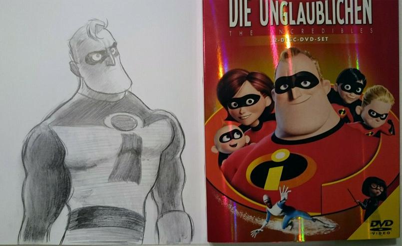Die Unglaublichen (The Incrdibles Doppel DVD + Zeichnung - 2Discs, sketch