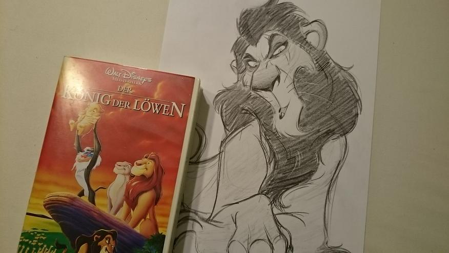 Rarität Disney's König der Löwen VHS + Zeichnung Lion king