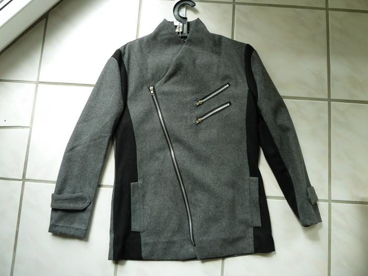 NEU koreanische Herbst Jacke S M Dunkelgrau, Anthrazit, Asia Design, DRIVE, slim