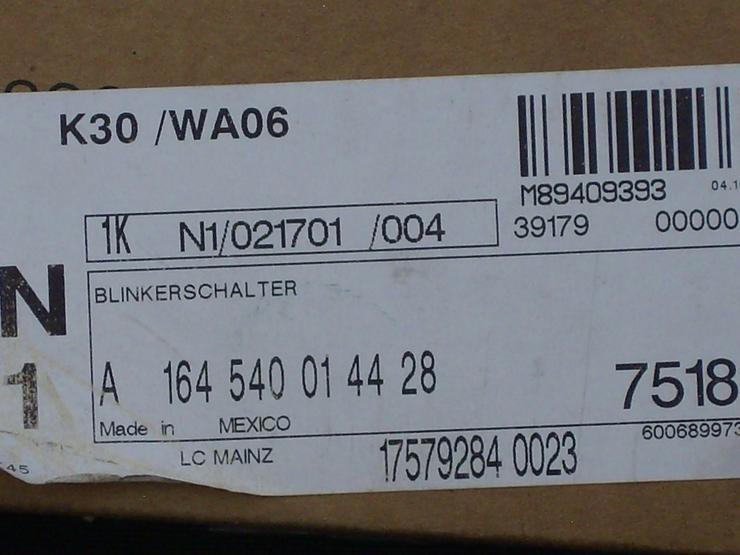 +++ für Mercedes Benz ML Klasse Typ W164 Blinker Kombischalter +++