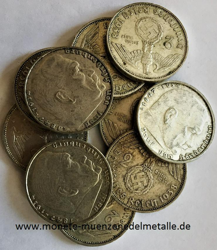 Deutschland 2 Reichsmark Deutsche reich div.Jahrgang Silber Münze - Münzen - Bild 1