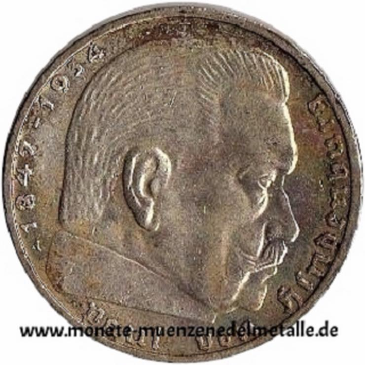 Bild 3: Deutschland 2 Reichsmark Deutsche reich div.Jahrgang Silber Münze