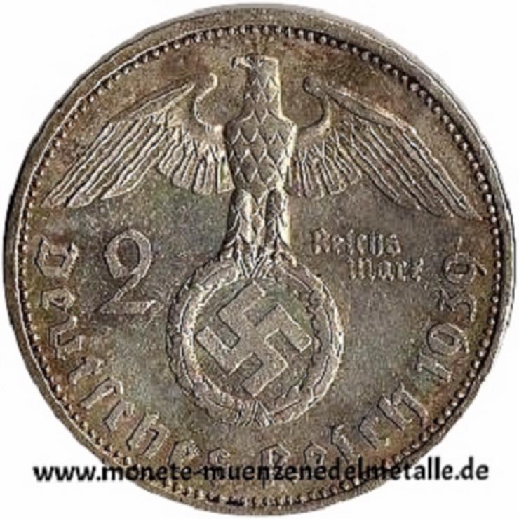 Bild 2: Deutschland 2 Reichsmark Deutsche reich div.Jahrgang Silber Münze