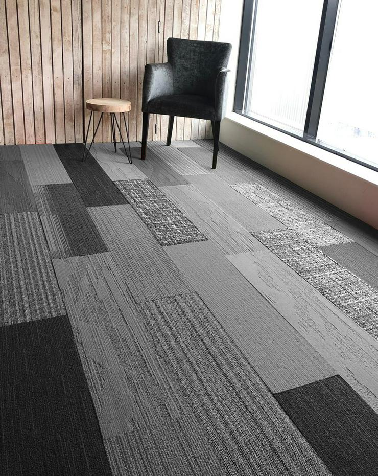 Shades of Grey Skinny Planks 25x100cm Interface Teppichfliesen