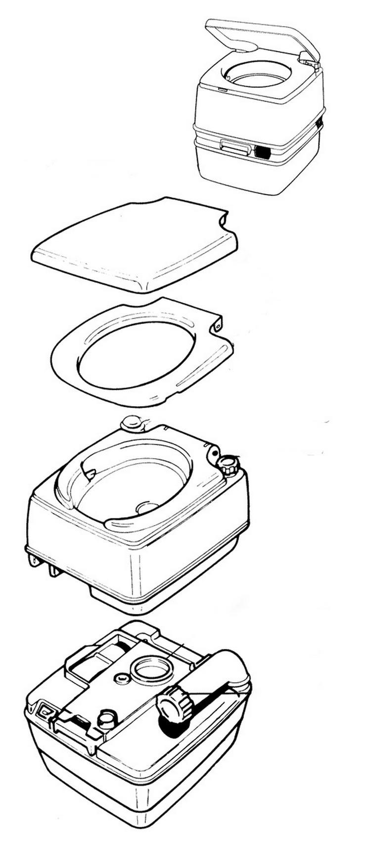 Bild 3: Biotoilette, caravan WC