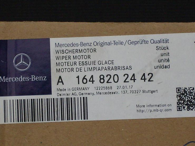 +++Mercedes Benz ML Klasse Typ W164 ein Wischermotor+++