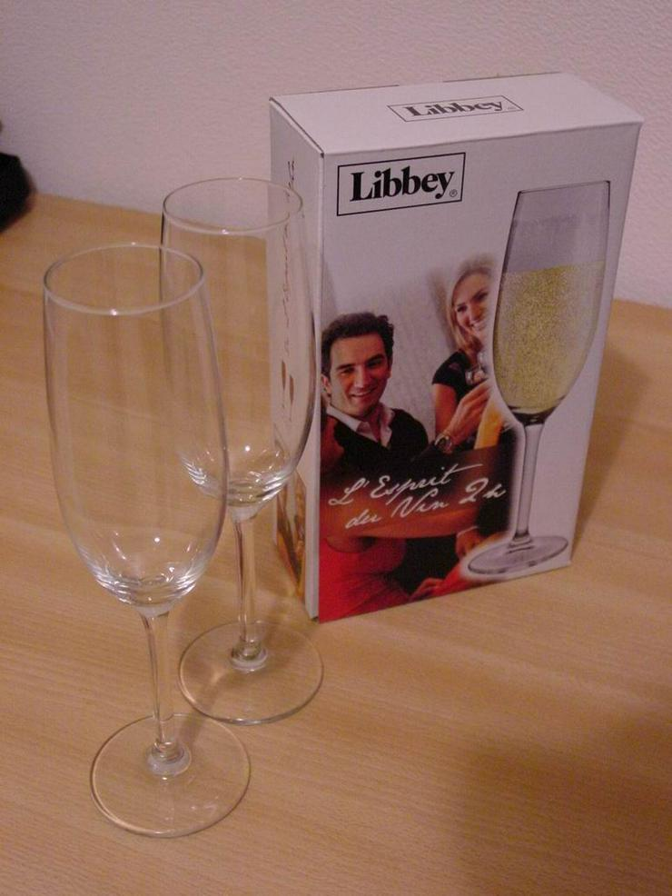 2 Champagnergläser (Libbey Leerdam) - Bild 1