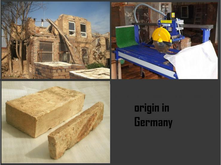 Bild 4: Antikriemchen Antik Riemchen Altziegel Bodenfliesen Backstein alte Mauersteine Riemchen mediterran Bodenpatten