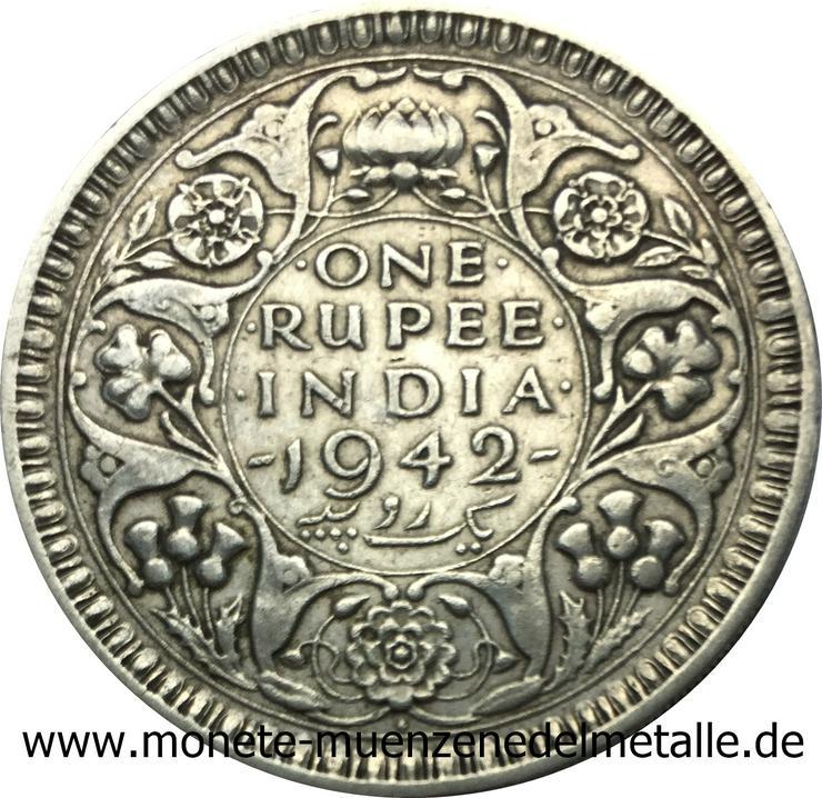 Indien Rupee Silber Münzen