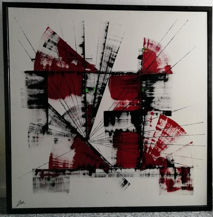 2 moderne dekorative Bilder (je 100cm x 100cm) der Malerin Ö. Oezener zu verkaufen